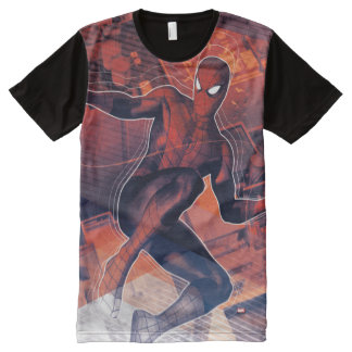Spider-Man Mid-Air Spidey Sense All-Over-Print T-Shirt
