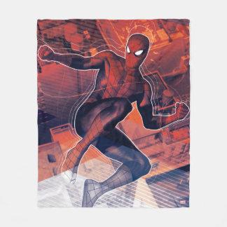 Spider-Man Mid-Air Spidey Sense Fleece Blanket