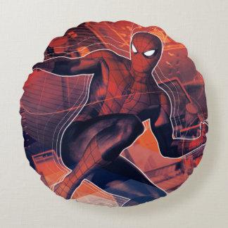 Spider-Man Mid-Air Spidey Sense Round Pillow