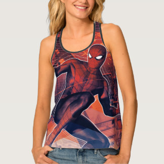 Spider-Man Mid-Air Spidey Sense Tank Top