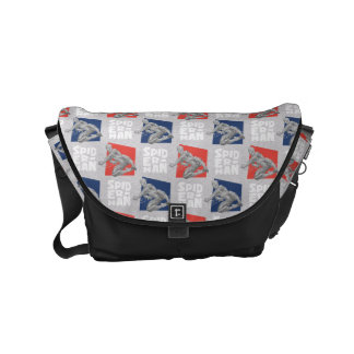 Spider-Man Name and Sketch Pattern Commuter Bags