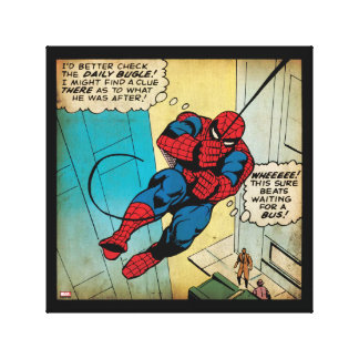 Spider-Man Off To Daily Bugle Comic Panel Canvas Print