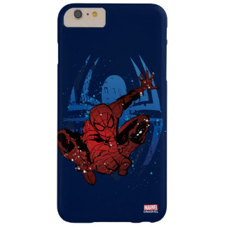 Spider-Man Paint Splatter & Logo Graphic Barely There iPhone 6 Plus Case