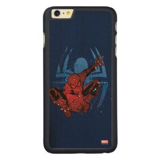 Spider-Man Paint Splatter & Logo Graphic Carved® Maple iPhone 6 Plus Case