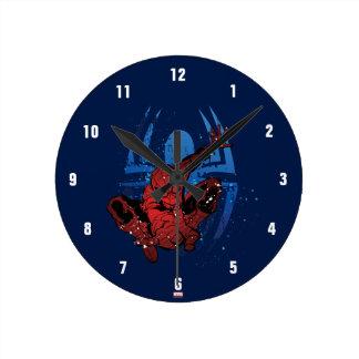 Spider-Man Paint Splatter & Logo Graphic Clocks