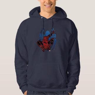 Spider-Man Paint Splatter & Logo Graphic Hoodie
