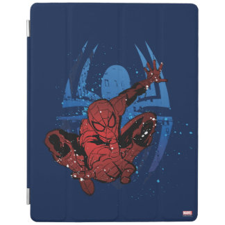 Spider-Man Paint Splatter & Logo Graphic iPad Cover