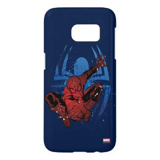 Spider-Man Paint Splatter & Logo Graphic Samsung Galaxy S7 Case
