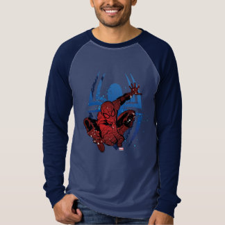 Spider-Man Paint Splatter & Logo Graphic T-Shirt