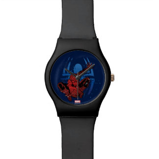 Spider-Man Paint Splatter & Logo Graphic Watches