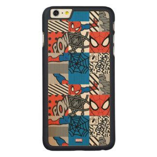 Spider-Man Pop Art Pattern Carved® Maple iPhone 6 Plus Case