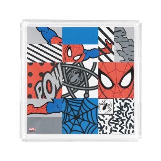 Spider-Man Pop Art Pattern Serving Tray
