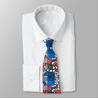 Spider-Man Pop Art Pattern Tie