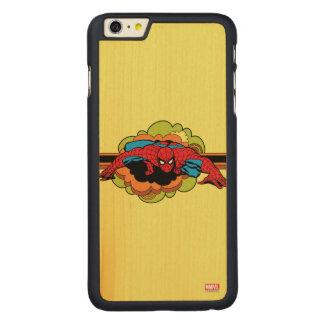 Spider-Man Retro Crawl Carved Maple iPhone 6 Plus Case