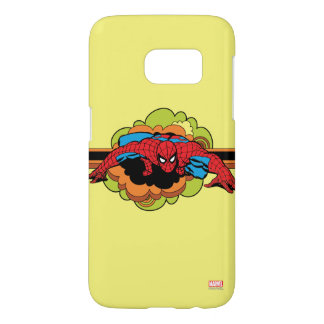Spider-Man Retro Crawl Samsung Galaxy S7 Case