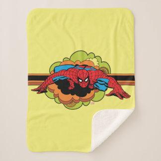 Spider-Man Retro Crawl Sherpa Blanket