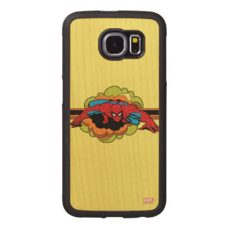 Spider-Man Retro Crawl Wood Phone Case