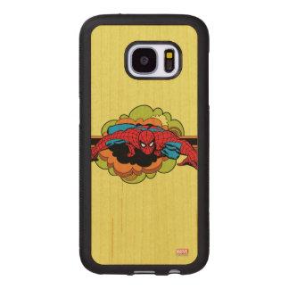 Spider-Man Retro Crawl Wood Samsung Galaxy S7 Case
