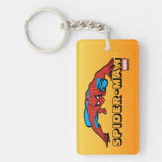 Spider-Man Retro Crouch Keychain