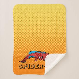 Spider-Man Retro Crouch Sherpa Blanket