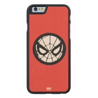 Spider-Man Retro Icon Carved Maple iPhone 6 Case