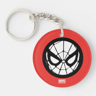 Spider-Man Retro Icon Double-Sided Round Acrylic Keychain