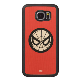 Spider-Man Retro Icon Wood Phone Case