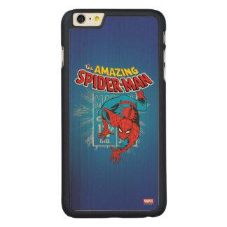 Spider-Man Retro Price Graphic Carved Maple iPhone 6 Plus Case