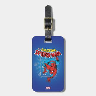 Spider-Man Retro Price Graphic Luggage Tag