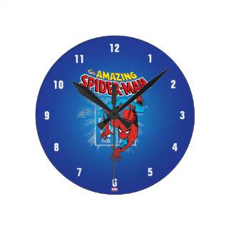 Spider-Man Retro Price Graphic Wallclock