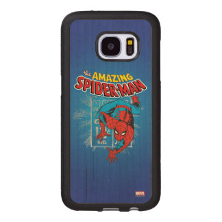 Spider-Man Retro Price Graphic Wood Samsung Galaxy S7 Case