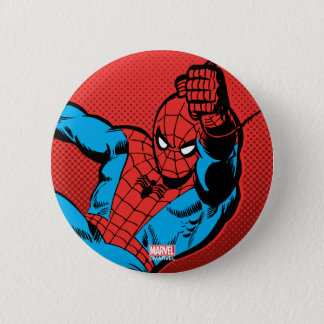 Spider-Man Retro Swinging Kick 2 Inch Round Button
