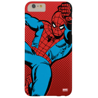 Spider-Man Retro Swinging Kick Barely There iPhone 6 Plus Case