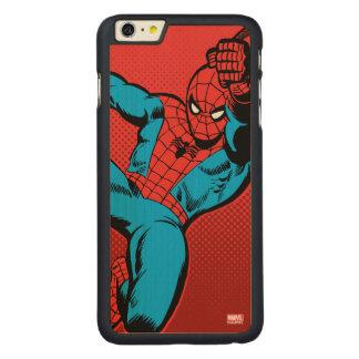 Spider-Man Retro Swinging Kick Carved Maple iPhone 6 Plus Case