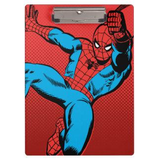 Spider-Man Retro Swinging Kick Clipboard