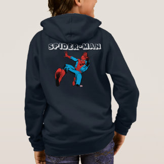 Spider-Man Retro Swinging Kick Hoodie