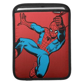 Spider-Man Retro Swinging Kick iPad Sleeve