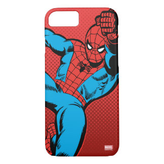 Spider-Man Retro Swinging Kick iPhone 7 Case