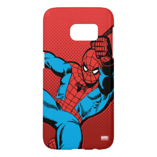 Spider-Man Retro Swinging Kick Samsung Galaxy S7 Case