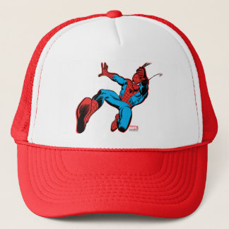 Spider-Man Retro Swinging Kick Trucker Hat