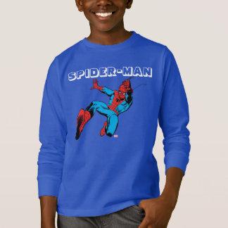 Spider-Man Retro Swinging Kick Tshirt