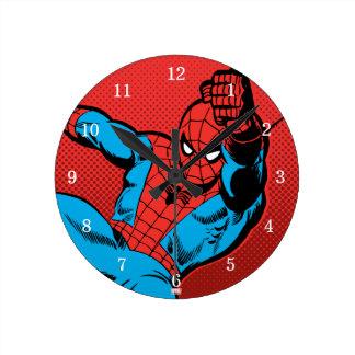 Spider-Man Retro Swinging Kick Wallclock