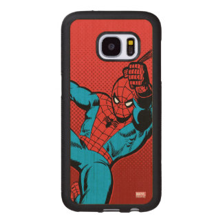 Spider-Man Retro Swinging Kick Wood Samsung Galaxy S7 Case