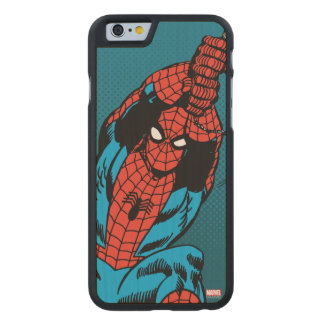 Spider-Man Retro Web Swing Carved Maple iPhone 6 Case