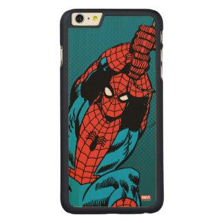 Spider-Man Retro Web Swing Carved Maple iPhone 6 Plus Case