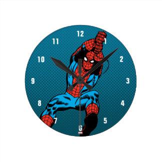 Spider-Man Retro Web Swing Round Clock