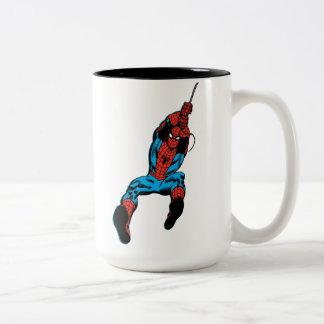 Spider-Man Retro Web Swing Two-Tone Coffee Mug
