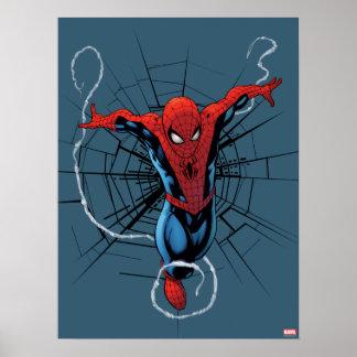 Spider-Man sautant avec la sangle