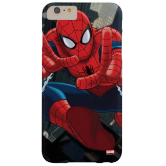Spider-Man Shooting Web High Above City Barely There iPhone 6 Plus Case