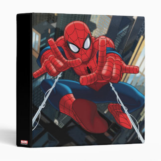 Spider-Man Shooting Web High Above City Binders